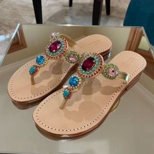 Fancy flats/sandals with jewels from Mystique.